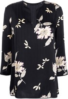Etro floral-print pleated tunic