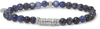 Tateossian Sodalite And Sterling Silver Beaded Bracelet - Blue