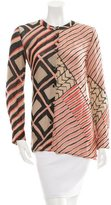 Thakoon Abstract Print Button-Up Top
