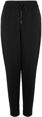 Eileen Fisher Black Tencel-blend Trousers