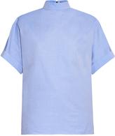 Balenciaga High-neck cotton shirt