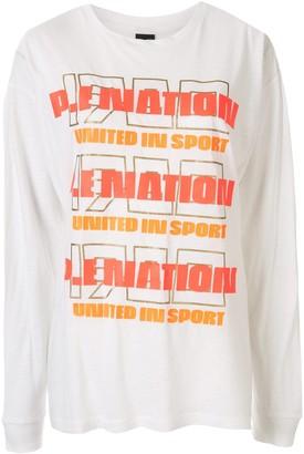 P.E Nation logo print T-shirt