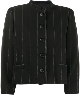 Valentino Pre Owned 1980s Pinstriped Straight Jacket