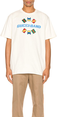 Gucci Band Oversize Print Tee in Sunkissed & MC | FWRD