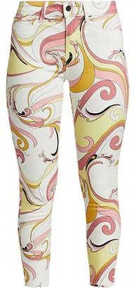 L'Agence Margot High-Rise Swirl Skinny Jeans