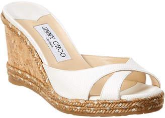 Jimmy Choo Almer 80 Raffia Wedge Sandal