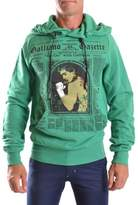 Galliano Men's Green Cotton Sweatshirt.