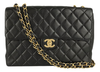 Chanel Timeless/Classique Black Leather Handbags