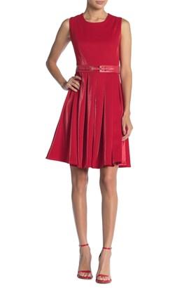 Gracia Sleeveless Pleated Midi Dress