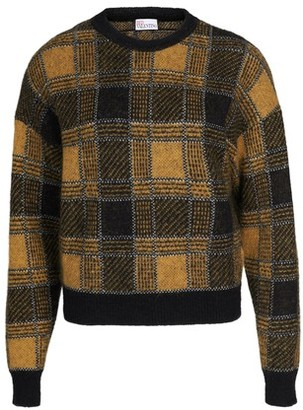 RED Valentino Check Jumper mohair sweat