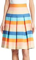 Akris Punto Striped Cotton Blend Skirt
