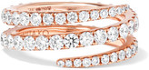 Anita Ko Coil 18-karat Rose Gold Diamond Phalanx Ring - 3