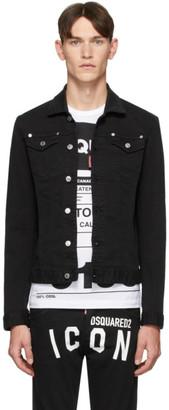 DSQUARED2 Black Denim Dan Jacket
