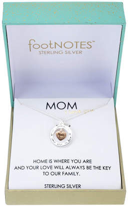Footnotes Womens Sterling Silver Heart Pendant Necklace