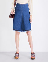 See by Chloe Centre-panel denim skirt