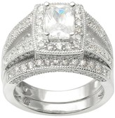Journee Collection 4 1/2 CT. T.W. Round Cut CZ Channel Set Split Band Ring in Sterling Silver