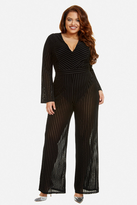 Fashion to Figure Blaire Stripe Mesh Jumpsuit