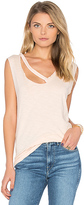 LnA Fallon V Neck Tank in Peach. - size L (also in )
