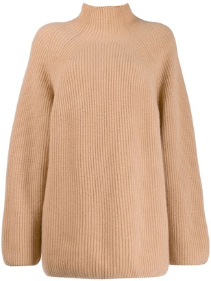 N.Peal Relaxed Fit Ribbed Jumper