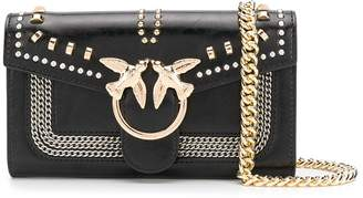Pinko Love studded crossbody bag
