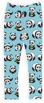 Urban Smalls Blue & Black Panda Leggings - Toddler & Girls