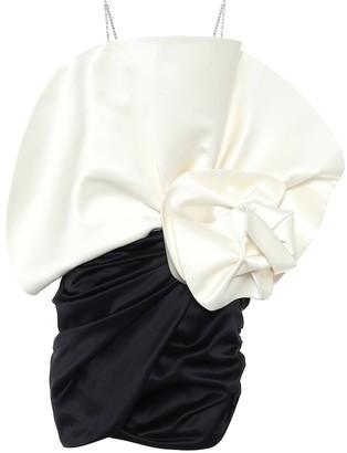 Magda Butrym Silk-satin and wool minidress