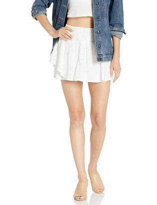 BCBGeneration Women's Smocked Checkerboard Skort