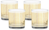 Culver 22K Gold Streamlined Old Fashioned Glass - Set of 4