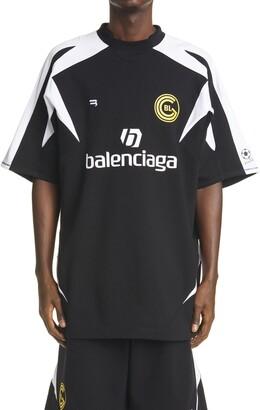 Balenciaga Soccer Logo Cotton Graphic Tee