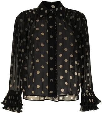 KHAITE Vanina polka-dot silk shirt