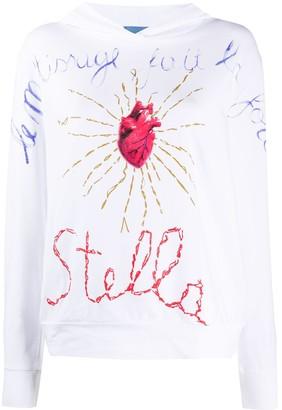 Stella Jean Logo Print Long-Sleeved Hoodie
