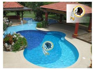 Redskins NFL Washington Large Pool Decal