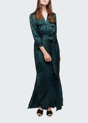 L'Agence Cameron Long Silk Shirt Dress