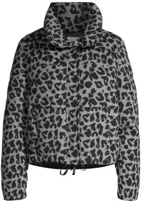 Apparis Chris Leopard-Print Puffer Jacket
