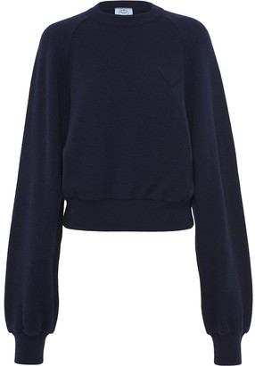 Prada Balloon-Sleeve Cashmere Jumper