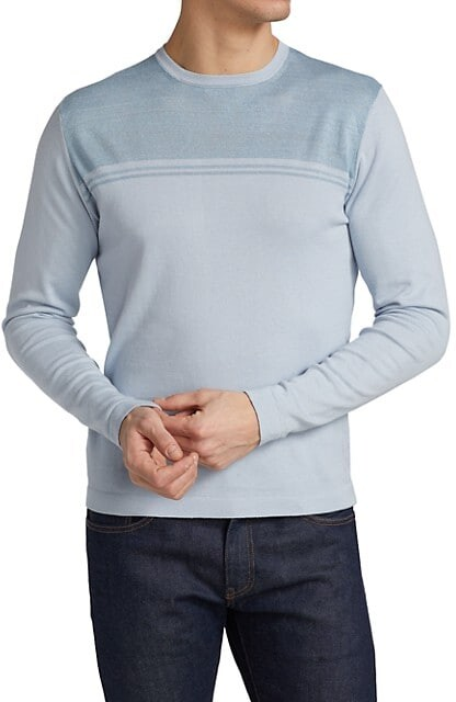 Thumbnail for your product : Saks Fifth Avenue Slim-Fit Long-Sleeve Colorblock Crewneck