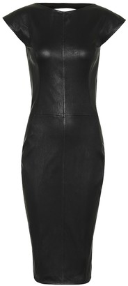 Rick Owens Easy Sarah leather and cotton dress