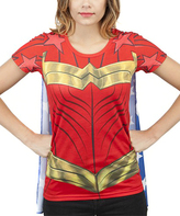 Bioworld Wonder Woman Sublimated Cape Tee - Adult