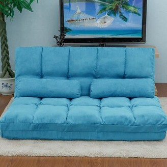 Trule Double Sofa Floor Couch and Sofa with Pillows Chaise Lounge