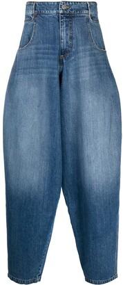 Telfar Oversized Distressed Jeans