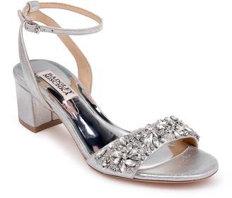 Badgley Mischka Ivanna Suede Block-Heel Sandals