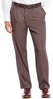 Roundtree & Yorke Travel Smart Ultimate Comfort Non-Iron Mini-Stripe Pleated Classic Fit Dress Pants