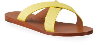 Givenchy Crisscross Logo Flat Sandals