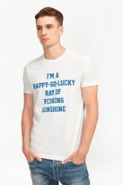 French Connection Ray Of Fcuking Sunshine Slogan T-Shirt