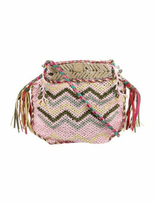 Antik Batik Leather-Trimmed Crossbody Bag Pink