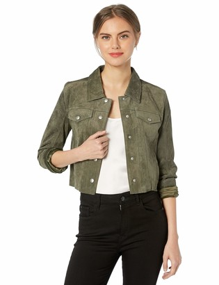 Blank NYC Women's Cropped Suede Jacket Outerwear