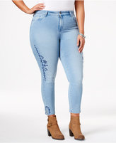 Style&Co. Style & Co Plus Size Embroidered Calabasas Wash Skinny Ankle Jeans, Only at Macy's