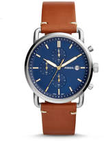Fossil The Commuter Chronograph Light Brown Leather Watch