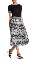 Lands' End Canvas Lands& End Canvas Printed Pleated Midi Skirt