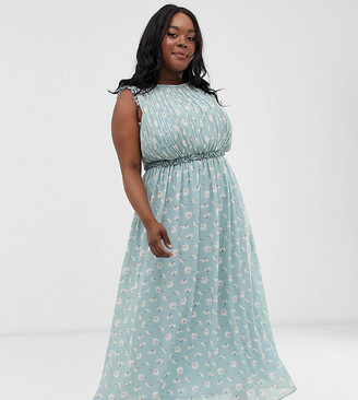 Unique21 Hero ditsy floral sleeveless maxi dress
